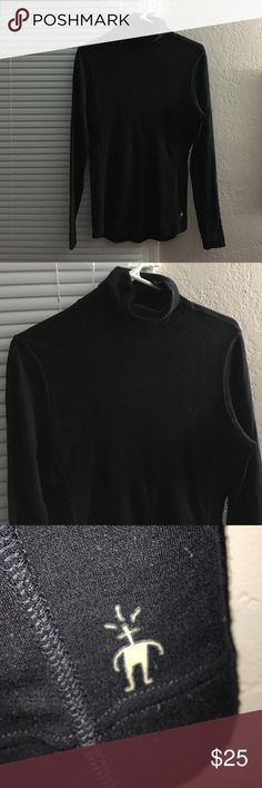 Smartwool Black Turtleneck Base Layer Smartwool black turtleneck, baselayer, 100% merino wool. Gently worn. Smartwool Tops