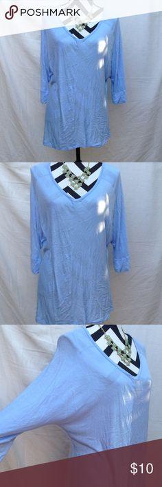 Apt. 9 batwing blouse Light blue color, EUC Apt. 9 Tops