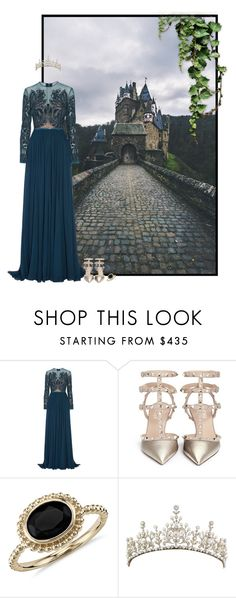 """""""pretty princess on the warpath"""" by forebodinq ❤ liked on Polyvore featuring Elie Saab, Valentino, Blue Nile, women's clothing, women, female, woman, misses and juniors"""