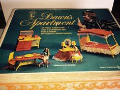 Vintage AMSCO Topper Dawn Doll Apartment with Original Box | eBay
