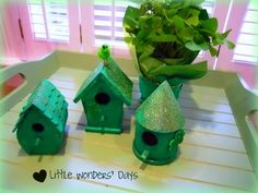 make a cute leprechaun village, and who knows, maybe this will be the year they trap a leprechaun St. Patrick's Day! littlewondersdays...