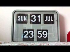 Grayson Wall Flip Clock - Time, Day & Date Flip - YouTube