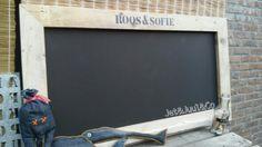 ✰ Schoolbord met lijst van steigerhout door Jet&Juul&Co ✰