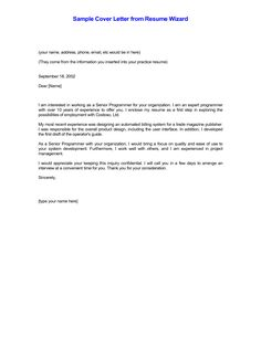 Resume Cover Letter Example Best Template HDSimple Cover Letter ...