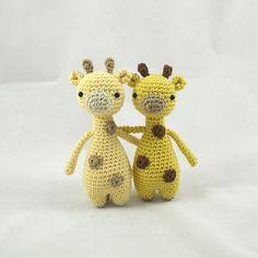 Mini giraffes crochet project by Little Bear Crochets
