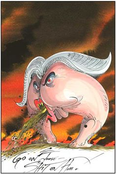 Pink Floyd The Wall: The Judge and Pink | Gerald Scarfe