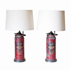 Pair of Lamps from Fire Extinguishers
