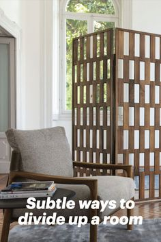 Subtle ways to zone a room Folding Room Dividers, Build A Wall, Classic Interior, Timeless Classic, Space Saving, Bookshelves, Small Spaces, Design Ideas, Interior Design
