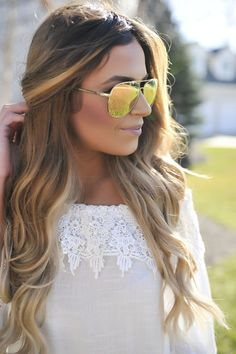 Metallic Aviators- Gold/Peach - Dottie Couture Boutique Mirrored Sunglasses, Sunglasses Women, Dottie Couture Boutique, Senior Trip, Aviators, My Sunshine, Metallic, Peach, Rock