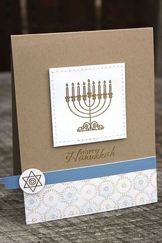 Mazel Tov Revisited - Happy Hanukkah Card by Heather Nichols for Papertrey Ink (November 2012)