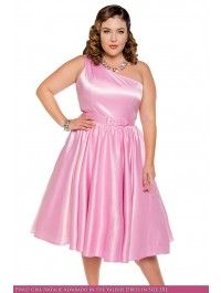 Valerie Dress in Baby Pink - Plus Size