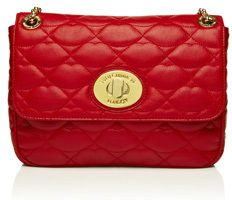 Lulu Guinness Red Quilted Lips Leather Large Annabelle on bagservant.co.uk