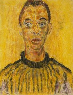 James Baldwin by Beauford Delaney, pastel on paper, 1963