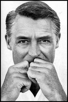 ..I love this awesome, natural look of Cary Grant !!   Do you think George feel like this about now?