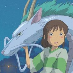 Studio ghibli,spirited away,hayao miyazaki Totoro, Studio Ghibli Art, Studio Ghibli Movies, Anime Films, Anime Characters, Anime Disney, Film Animation Japonais, Chihiro Y Haku, Japon Illustration