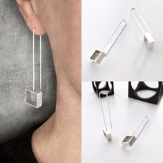 Square Dangle Earrings.