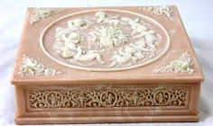 $65.99 Incolay Pink Jewelry Box 8x7x2.5