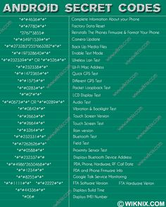 Android Secret Codes                                                                                                                                                      More