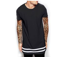*New Product Alert* > Striped Extended ... Check it out here! http://upperstatusshop.com/products/moomphya-streetwear-men-t-shirt-extended-longline-hipster-t-shirt-men-stripes-t-shirt-homme-long-line-t-shirt-with-striped-hem?utm_campaign=social_autopilot&utm_source=pin&utm_medium=pin #lifestyle #fashion