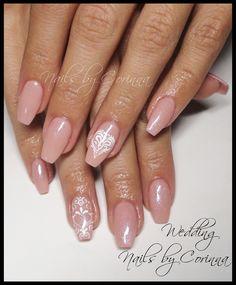 #wedding #bride #nailart #romantic #hearts #nude #ballerina #nailshape #gel