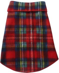 Cozy Classic Holiday Plaid Fleece Pullover Tank - in Red Tartan Plaid