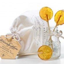 Honey Lollipops with Lavender Tea - Waxing Kara