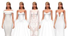 The Sims 4 MM — Do you by any chance have cc wedding gowns? Maxis, Sims 4 Cc Skin, Sims 4 Mm Cc, Sims 4 Wedding Dress, Wedding Gowns, Party Wedding, Gold Wedding, Wedding Ceremony, Wedding Rings