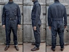 Image of The Bonneville Red Selvage Denim Coverall Indigo