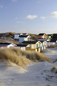 Beach Huts in Vellinge by Visit Scandinavia, via Flickr