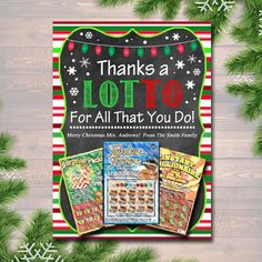 Christmas Thank You a Lottery Gift Card Holder, Printable Teacher Gift, Xmas Coach Gift Nanny Babysitter Gift Card - EDITABLE Christmas Thank You a Lottery Gift Card Holder, Printable Teacher Gift, Xmas Coach Gift IN - Coach Christmas Gifts, Coach Gifts, Xmas Gifts, Christmas Thank You Gifts, Christmas Ideas, Christmas Tree, Coach Gift Card, Christmas Cards, 5 Gifts