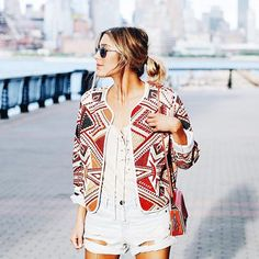 From Summer to Fall, we love a good printed jacket!