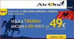 Air One: 6.000 posti per volare a Tirana da soli 49€ a tratta, tasse incluse