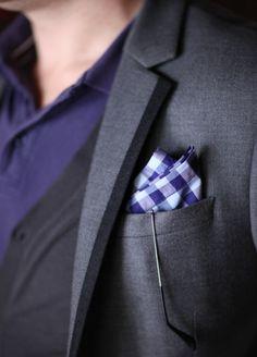 My grey blazer with Paul Smith pocket square.