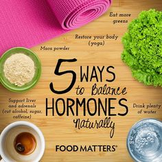 5 Ways To Balance Hormones Naturally!  Do you feel like something is just not right? You're not sick, you're not in physical pain. But something just isn't quite letting you feel 100%? It could be your hormones!   http://foodmatters.tv/content/5-signs-your-hormones-are-out-of-whack