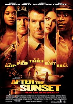 """After the Sunset ~ On of the reviews by Stephen hunter says """"The film is thin, insipid and unconvincing except when it argues for Salma Hayek's beauty."""" I cant agree more!"""