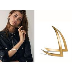 Our V-bracelet is the perfect accessory for a night out! Available in gold-plated sterling silver and sterling silver #janekoenig #janekønig #vbracelet