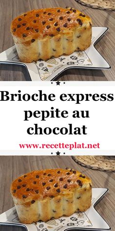 Brioche express pepite au chocolat - Expolore the best and the special ideas about French recipes Croissants, Brioche Express, Candy Recipes, Dessert Recipes, Espresso Machine, Fast Good, Make French Toast, Polynesian Food, French Desserts