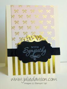 August 2015 Paper Pumpkin Chalk It Up To Love: Two Alternative Card Ideas #paperpumpkin #stampinup www.juliedavison.com