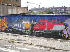 Train-graffiti by vitalyzator, via Flickr   http://GreatTrainVideos.com