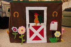 Farm Playhouse for the Kids (sar_m) Tags: toronto canada handmade farm sewing felt playhouse on cardtable