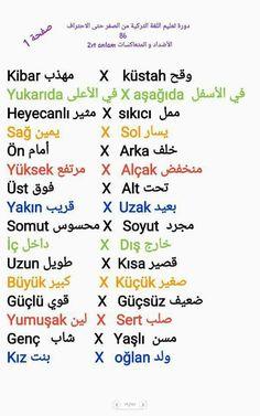 Learn Turkish Language, Arabic Language, Language Quotes, Language Lessons, English Words, English Language, Turkish Lessons, Learn Korean, Learning Arabic
