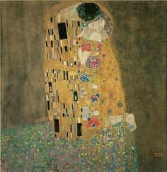 Gustav Klimt, The Kiss; 1907-08. 120 GREAT PAINTINGS OF LOVE AND ROMANCE Welcome to Dover Publications