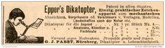 Original-Werbung/Inserat/ Anzeige 1899 - EPPER'S DIKATOPTER / ZEICHENAPPARAT/PABST NÜRNBERG- ca. 95 x 30 mm