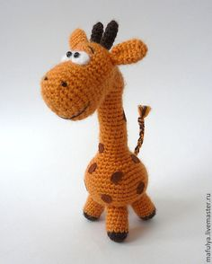 Игрушки животные, ручной работы. Заказать Жирафик Пятнышкин. Вязаная игрушка, вязаный жираф. Мария Уфимцева. Ярмарка Мастеров. жирафик