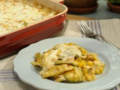 Get Marcela Valladolid's Corn and Chipotle Ravioli Lasagna Recipe from Food Network Cheese Ravioli, Ravioli Lasagna, Chicken Ravioli, Lasagna Food, Spinach Ravioli, Ravioli Bake, Lasagna Recipes, Mac Cheese, Marcela Valladolid