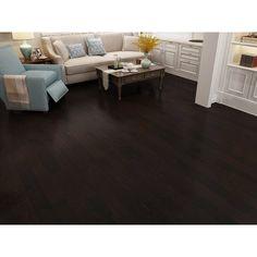 Hickory Wood Floors, Maple Hardwood Floors, Engineered Hardwood Flooring, Dark Bamboo Flooring, Dark Walnut Floors, Kitchen Flooring Options, Flooring Ideas, Wood Laminate, Laminate Flooring