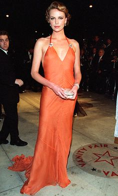 The Most Breathtaking Oscars Gowns - Charlize Theron, 2000 from #InStyle
