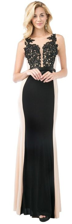 Meier Women's Two Toned Sleeveless Embroidery Evening Dress size 8. This sleeveless form fitting gown has a beautiful lace applique applied to its sheer bodice. The A-line design with belted waistline accent the form perfecting. With a semi sheer back and paneled front and back design this gown in beyond compare for bridesmaids or any other special occasions. Bulit in bra pad, back zipper, soft chiffon skirt is double lined. Perfect for bridesmaid, mother of bride, evening party, wedding...