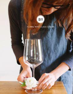 Floral Wine Glass Charm: http://www.stylemepretty.com/living/2015/04/29/how-to-diy-floral-wine-glass-charm/ | Photography: Megan Clouse Photography - www.meganclousephotography.com