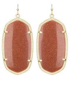 Danielle Earrings in Goldstone - Kendra Scott Jewelry.